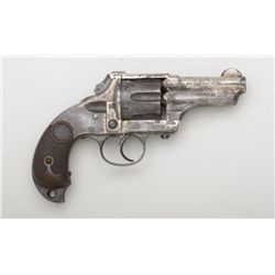 "Merwin & Hulbert DA Pocket Army revolver,  .44-40 cal., 3-1/4"" barrel, nickel finish,  checkered har"