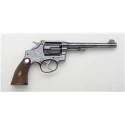 Highly desirable Smith & Wesson K-22  Outdoorsman DA revolver in original red  factory two-piece car