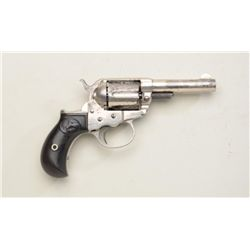 "Colt Model 1877 Lightning DA revolver, .38  cal., 3-1/2"" barrel, nickel finish, checkered  black har"