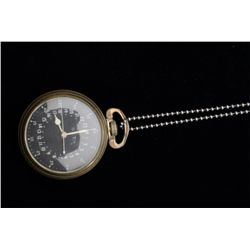 """U.S. Army Air Force (circa WW II) G.C.T.  navigation watch by Hamilton marked on  reverse """"part no."""