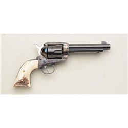 "Ruger Vaquero SAA revolver, .357 Magnum cal.,  5-1/2"" barrel, blue and case hardened  finish, stag g"