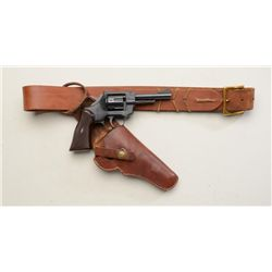 "German Arminius DA revolver, .32 S&W Long  cal., 4"" barrel, black finish, checkered  maroon plastic"
