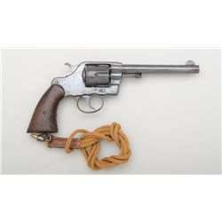 Colt Model 1894 U.S. Army Model DA revolver,  .38 cal., 6 barrel, blue finish, wood grips,  106637.