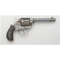 "Colt Model 1878 DA revolver, .45 cal., 5-1/2""  barrel, checkered hard rubber grips, #29703.  This is"