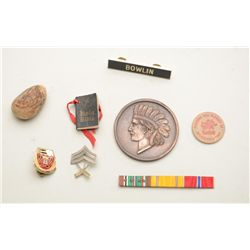 Bonanza lot of misc. mostly U.S. military  medals, ribbons, pins, etc. including Army,  Marine and A