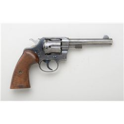 "Colt New Service DA revolver, .455 Eley cal.,  British proofed, 5-1/2"" barrel, blue finish,  custom"