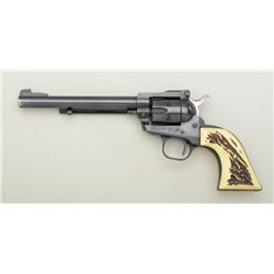 "Ruger Single Six Single Action revolver, .22  cal., 6-1/2"" barrel, black finish, faux stag  grips, #"
