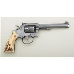 "Smith & Wesson K-38 DA 5 screw revolver, .38  Special cal., 6"" barrel, blue finish, target  hammer,"