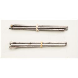 Lot of two 4-piece iron cleaning rods for a  Winchester model 1873 lever action rifle;  great access