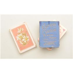 Lot of three old decks of playing cards  including an old European deck with beautiful  color work o