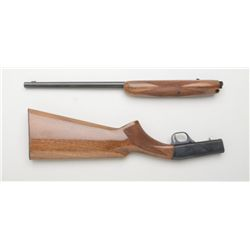 "Browning Grade One semi-auto rifle, .22LR  cal., 19"" round barrel, blue finish,  checkered wood stoc"