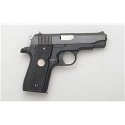"Colt Government Pocketlite semi-auto pistol,  .380 cal., 3-1/2"" barrel, black finish,  checkered har"