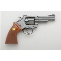 "Colt Trooper Mark III DA revolver, .357  Magnum cal., 4"" barrel, blue finish,  checkered wood medall"