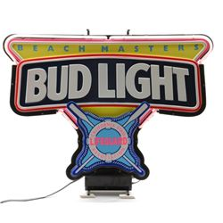 "Very limited edition neon light sign ""Bud  Light California Life Guard's Association  'Beach Masters"
