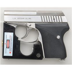 Seecamp LWS, #050067, .32 ACP, 2-1/8  barrel,  stainless, California Edition, with  checkered plasti