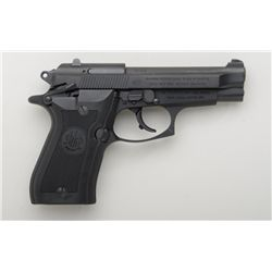 "Beretta 84FS Cheetah, #H30296Y, 3.75"" barrel,  matte black finish, drift adjustable rear  sight, pla"