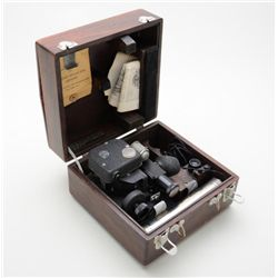 U.S. Air Force Fairchild A10A sextant in wood  case, serial #27473 with U.S. Air Forces  U.S. Army P