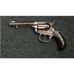 Colt 1877 Lightning .38 cal. D.A. Revolver,  re-nickled finish, serial #90590, mismatched,  some buf