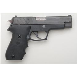 "Sig Sauer Model P220 DA semi-auto pistol, .45  cal., 4-1/2"" barrel, mat black finish, Hogue  wrap ar"