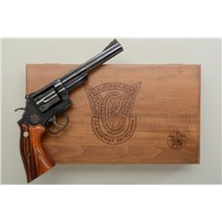 Wood presentation cased Smith & Wesson CHP  Commemorative DA Model 19-4 revolver, .357  Magnum cal.,