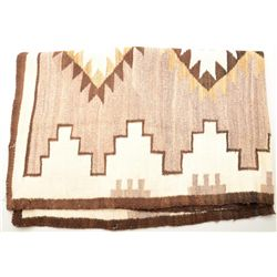 "Classic Navajo rug approx. 40"" x 68"" in  overall very good to fine condition showing a  white and gr"