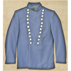 U.S. Officer's jacket, Civil War to Indian  War period showing 22 buttons gold-plated  eagle buttons