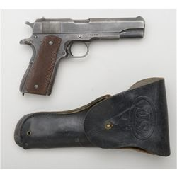Remington Rand manufactured Model 1911 A-1  .45 ACP cal, U.S. Military issued  #974197.   Good as is