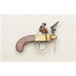 High quality English flintlock tinder lighter  signed J. Wilkes. Made similar in style to  small cen