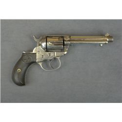 "Colt Model 1877 DA Thunderer revolver, .41  cal., 4-1/2"" barrel, nickel finish, checkered  hard rubb"