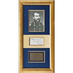 """Clipped signature P.H. Sheridan, Lt. General  USA. Approx. 2-3/4"""" by 5"""". Cleaned and  restored condi"""