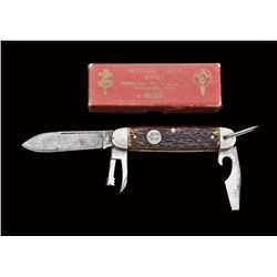 Remington Boy Scout knife, three blades.  Spear blade, can opener, and bottle  opener/screwdriver. T