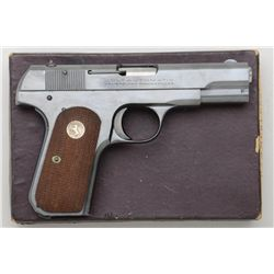 Colt Model 1908 .380 auto semi-automatic  pistol #107511.  Excellent to near mint in  original box n
