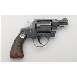 "Colt Detectives Special DA revolver, .38  cal., 2"" barrel, blue finish, checkered  medallion wood gr"