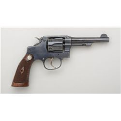 "Smith & Wesson Hand Ejector DA 5-screw  revolver, .32 long cal., 4"" barrel, blue  finish, checkered"