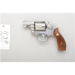 "Smith & Wesson Model 64-2 DA revolver, .38  Special, 2"" barrel, stainless steel,  checkered wood med"