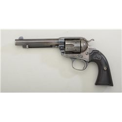 "Colt Bisley revolver, .38-.40 cal., 5-1/2""  barrel, blue finish, checkered black rampant  Colt hard"