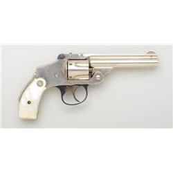 "Smith & Wesson New Departure concealed hammer  revolver, .38 cal., 4"" barrel, nickel  finish, factor"