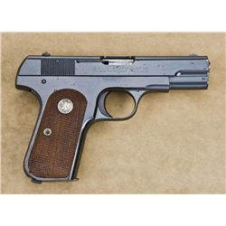 "Colt Model 1903 semi-auto pistol, .32 cal.,  3-3/4"" barrel, blue finish, checkered Colt  medallion w"