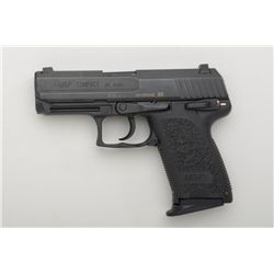 "H & K  USP Compact Model DA semi-auto pistol,  .45 cal., 4"" barrel, mat black finish,  integral comp"