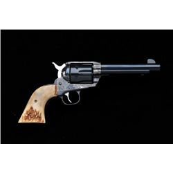 "Ruger Vaquero .45 caliber single-action  revolver, 5-1/2"" barrel, blue and case  hardened finish, cu"