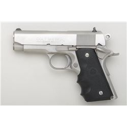 "Colt MK IV/Series 80 Colt Officer's ACP  semi-auto pistol, .45 cal., 3-1/2"" barrel,  stainless steel"