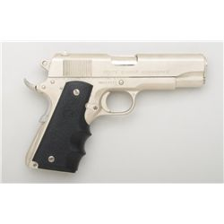 "Colt Combat Commander semi-auto pistol, .45  cal., 4-1/4"" barrel, satin finished stainless  steel, H"