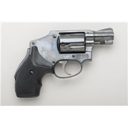"Smith & Wesson four-screw hammerless hand  ejector revolver, .38 Special cal., 2""  barrel, re-blued"