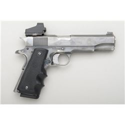 "Customized Colt Mark IV/Series 70 semi-auto  pistol, .45 cal., 5"" Barsto barrel, blue  finish, Hogue"
