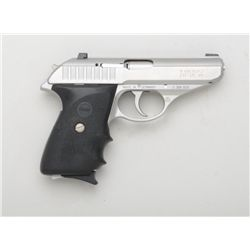 "Sig Sauer Model P232 DA semi-auto pistol, 9mm  kurz cal., 3-1/2"" barrel, stainless steel,  wrap arou"