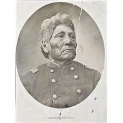 Original photograph of American Indian scout  and notable dignitary Johnson Sides, known as  the U.S