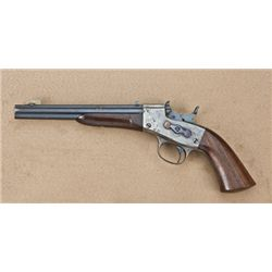 "Remington Rolling Block Navy .22 caliber  plinker, 8"" barrel, blue and case hardened  finish, standa"