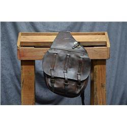 Pair of US military saddle bags dated 1918 in  overall good condition with leather flaps on  both si
