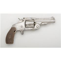 "Smith & Wesson Baby Russian spur trigger top  break revolver, .38 cal., 3-1/4"" barrel,  nickel finis"