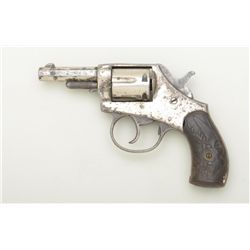 "American Bulldog DA revolver, .32 cal.,  2-1/2"" octagon barrel, nickel finish, raised  eagle black h"